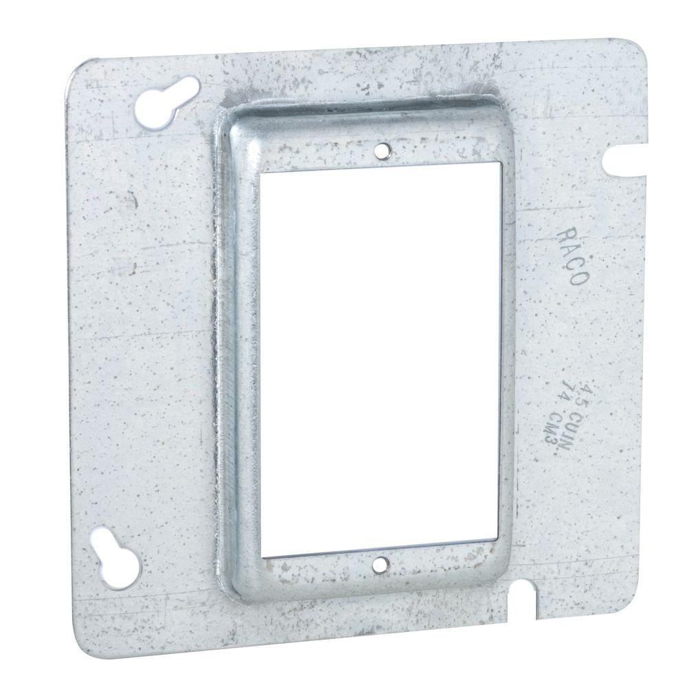 4-11/16 in. Square Single Device Mud Ring, 5/8 in. Raised (25-Pack)