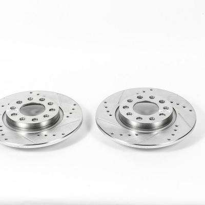 Rear Extreme Performance Drilled & Slotted Brake Rotor fits 2014-2016 Jeep Cherokee
