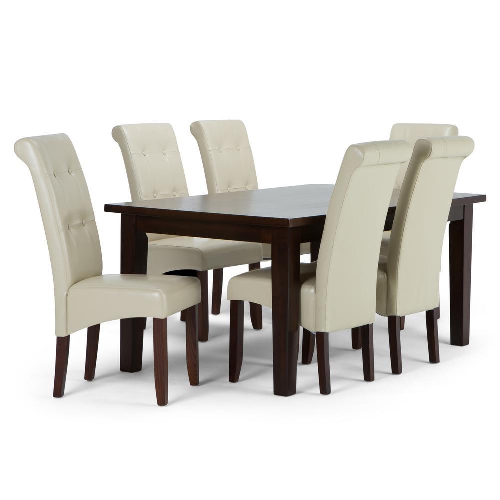 Amazing Simpli Home Cosmopolitan 7 Piece Dining Set With 6 Machost Co Dining Chair Design Ideas Machostcouk
