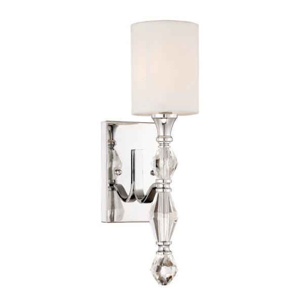 Evi 1-Light Chrome Wall Sconce