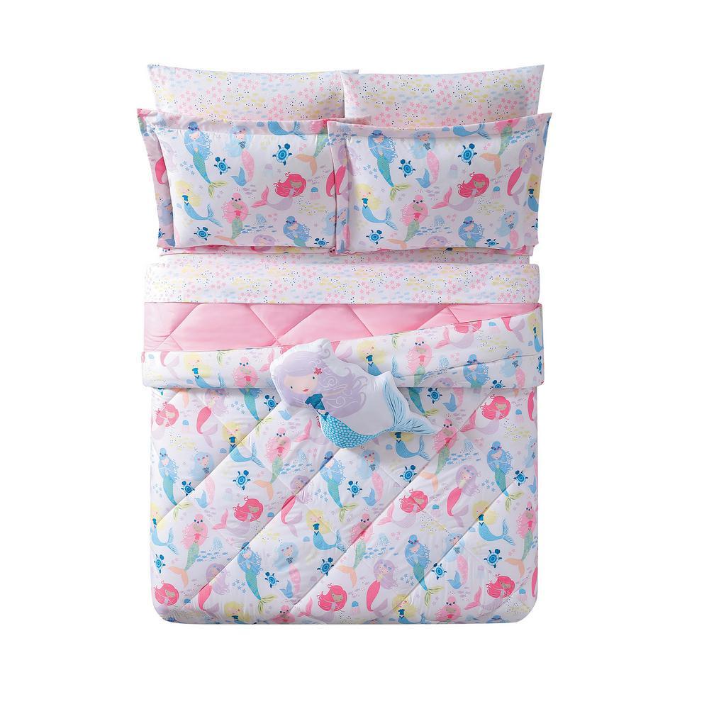 My World Kids Mermaids Full Queen Comforter Set Cs2323fq 1500 The Home Depot