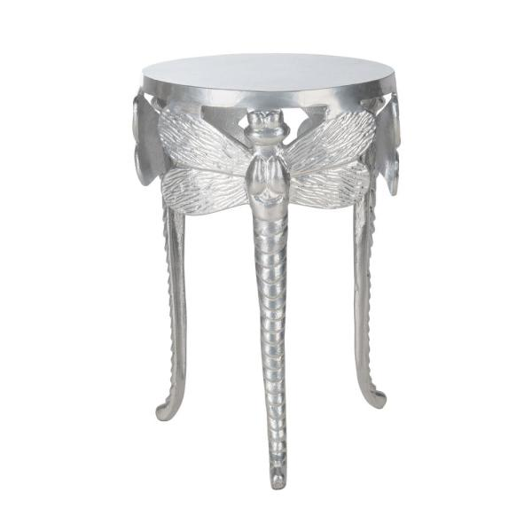 Safavieh Melika Dragonfly Distressed Gold/White End Table
