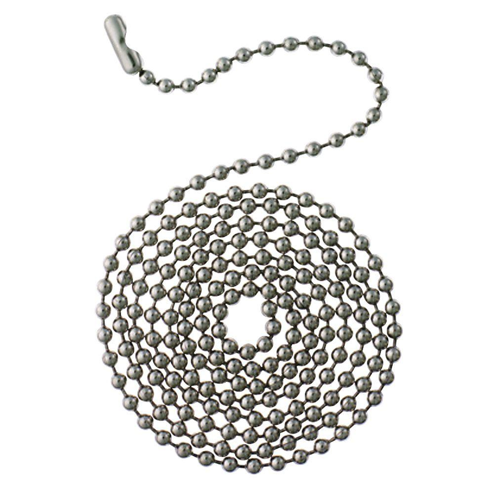 Westinghouse 12 ft. Chrome Beaded Chain with Connector