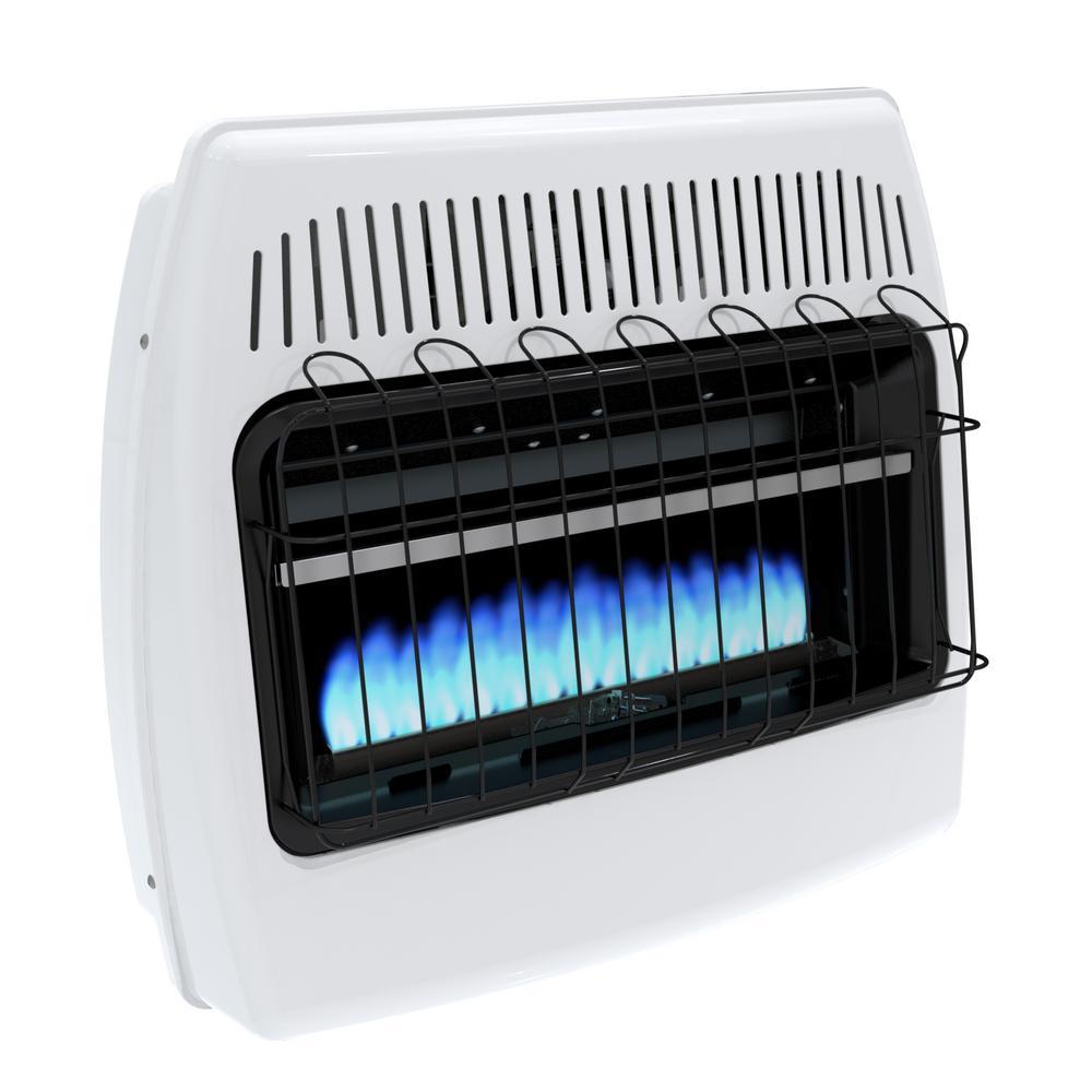 30,000 BTU Blue Flame Vent Free Natural Gas Wall Heater