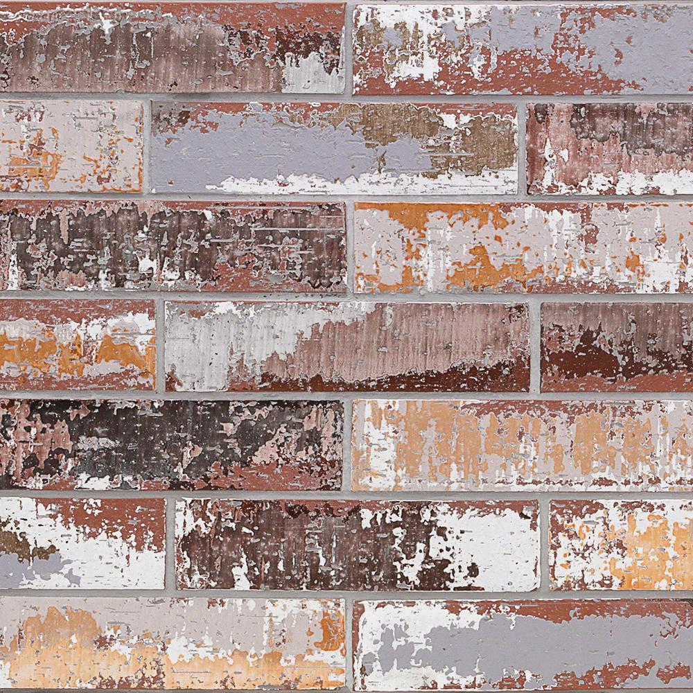 Ivy Hill Tile Metro Brick Multi-Color 3 in. x 9 in. x 10mm Natural Clay Subway Wall Tile (30 pieces / 4.65 sq. ft. / box)