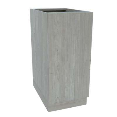 Ready to Assemble 18 in. x 34-1/2 in. x 24 in. Base Cabinet Door in Grey Nordic Wood