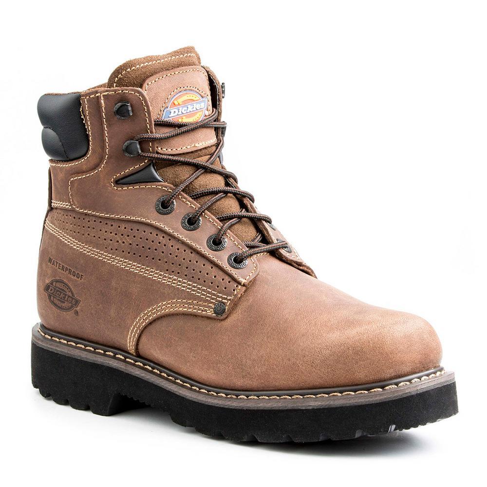 f7375a5ab5f Dickies Breaker Men Size 12 Brown Leather Steel Toe Work Boot