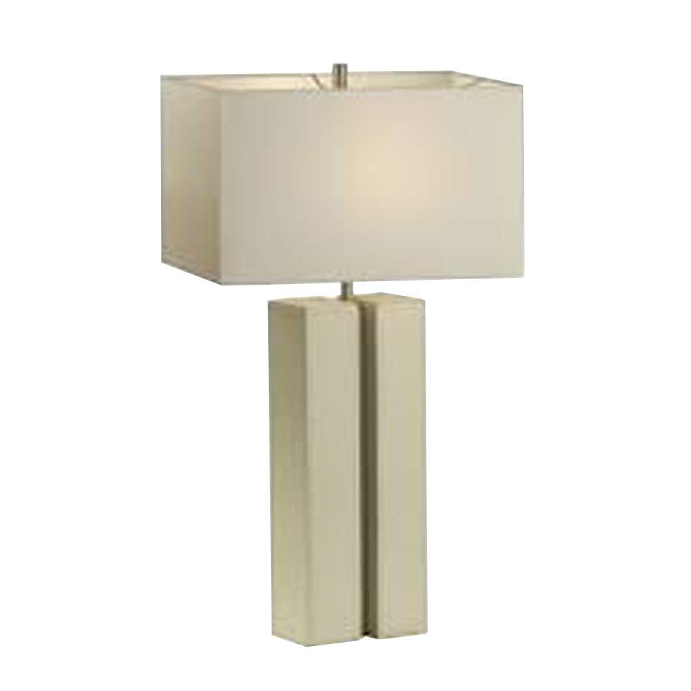 Filament Design Astrulux 28 in. White Leather Table Lamp