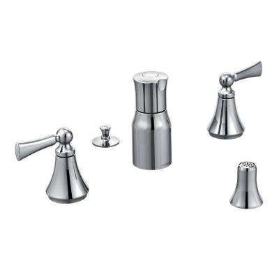 Wynford 2-Handle Bidet Faucet in Chrome (Valve sold separately)