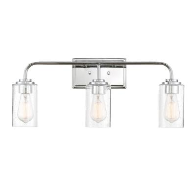 Logan 3-Light Chrome Bath Bar Vanity Light