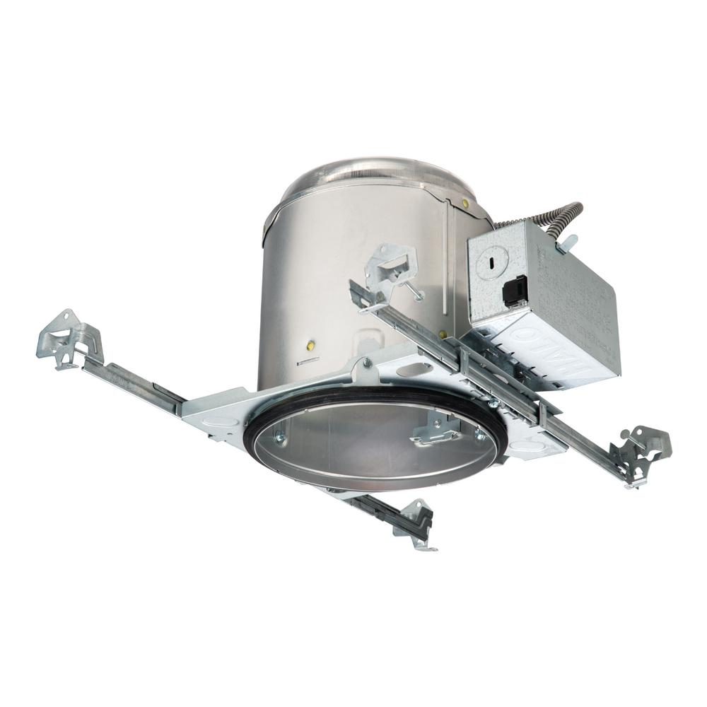 E26 6 in. Raw Aluminum Recessed Light Housing for New Construction