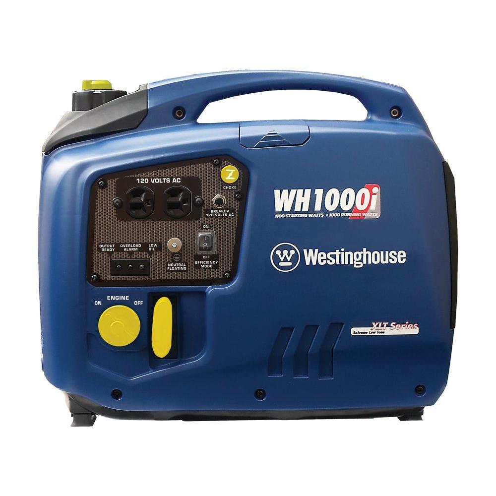westinghouse 1000 watt gasoline powered digital inverter generator wh1000i the home depot. Black Bedroom Furniture Sets. Home Design Ideas