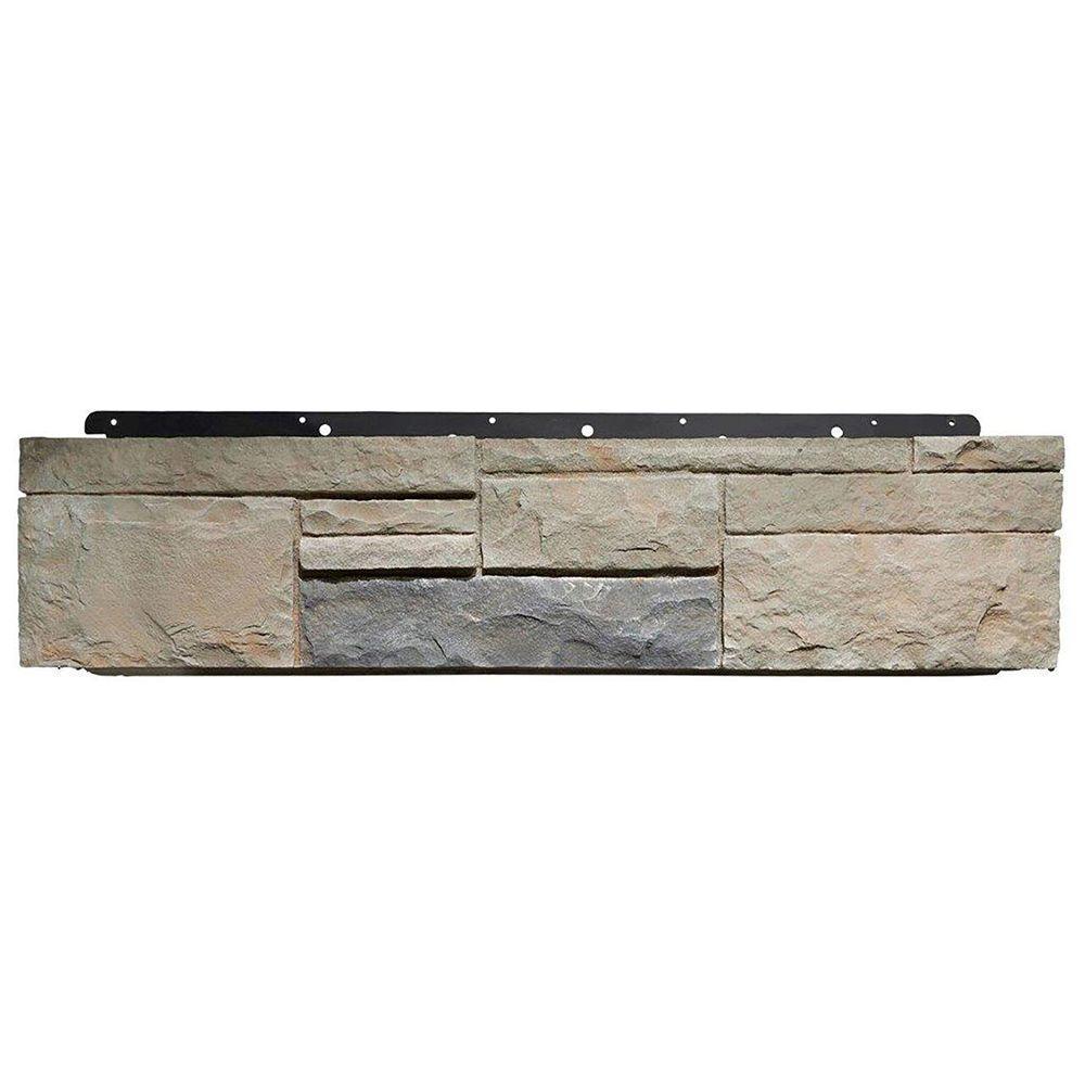 Boral 8 in. x 36 in. Versetta Stone Tight-Cut Corner Mission Siding (6-Bundles/Box), Multi-Colored -  4210664