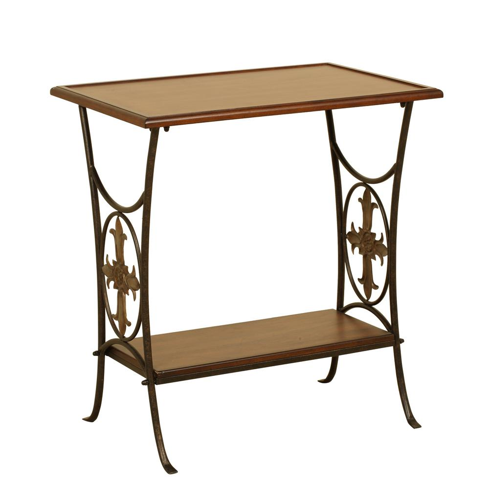 Superb Null Walnut Accent Table With Removable Tray