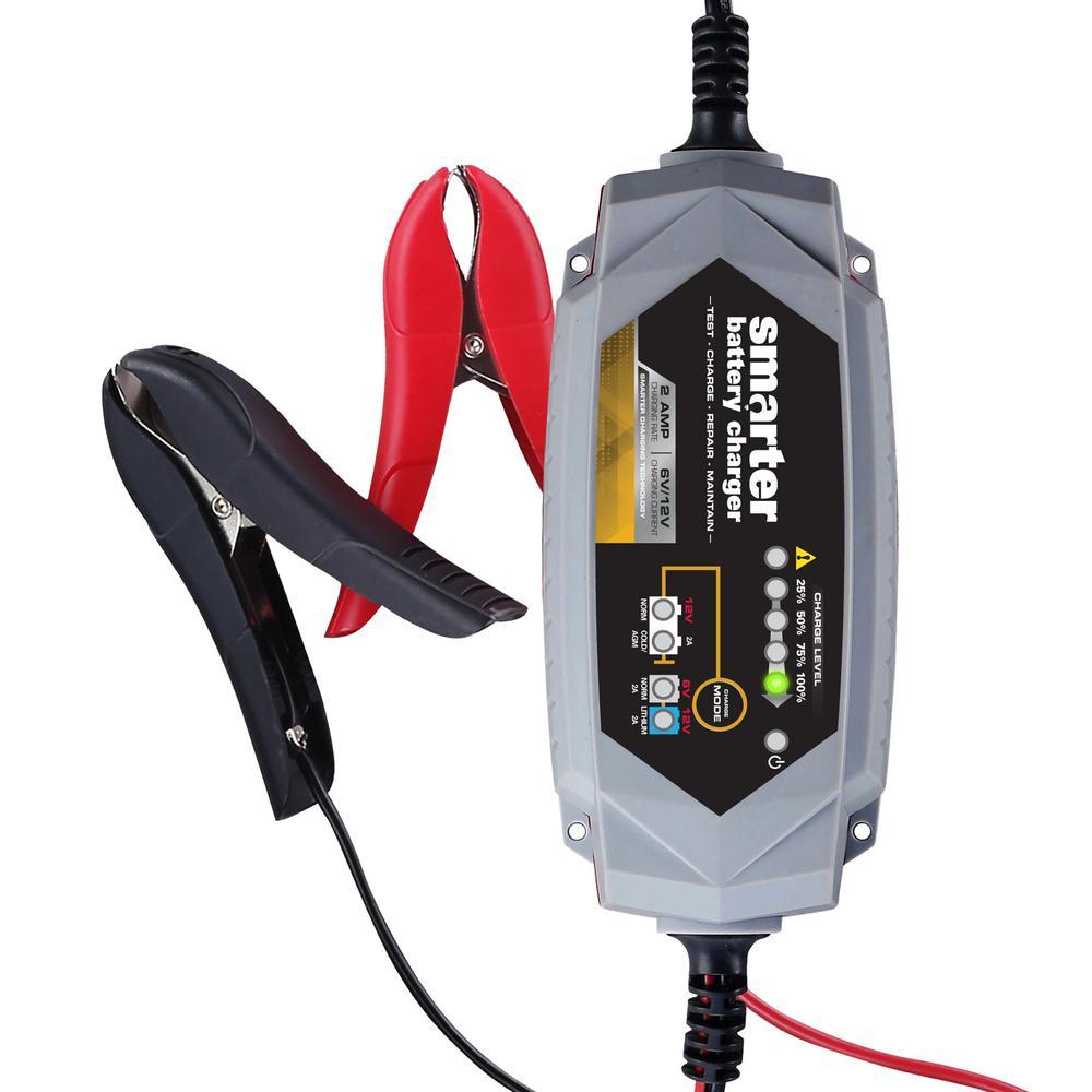 Smarter Tools Smarter 2 Amp 6-Volt/12-Volt Battery Charger by Smarter Tools