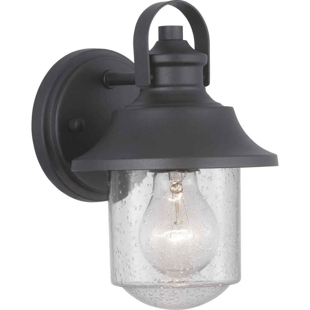Progress Lighting Weldon Collection 1-Light Black Outdoor ...
