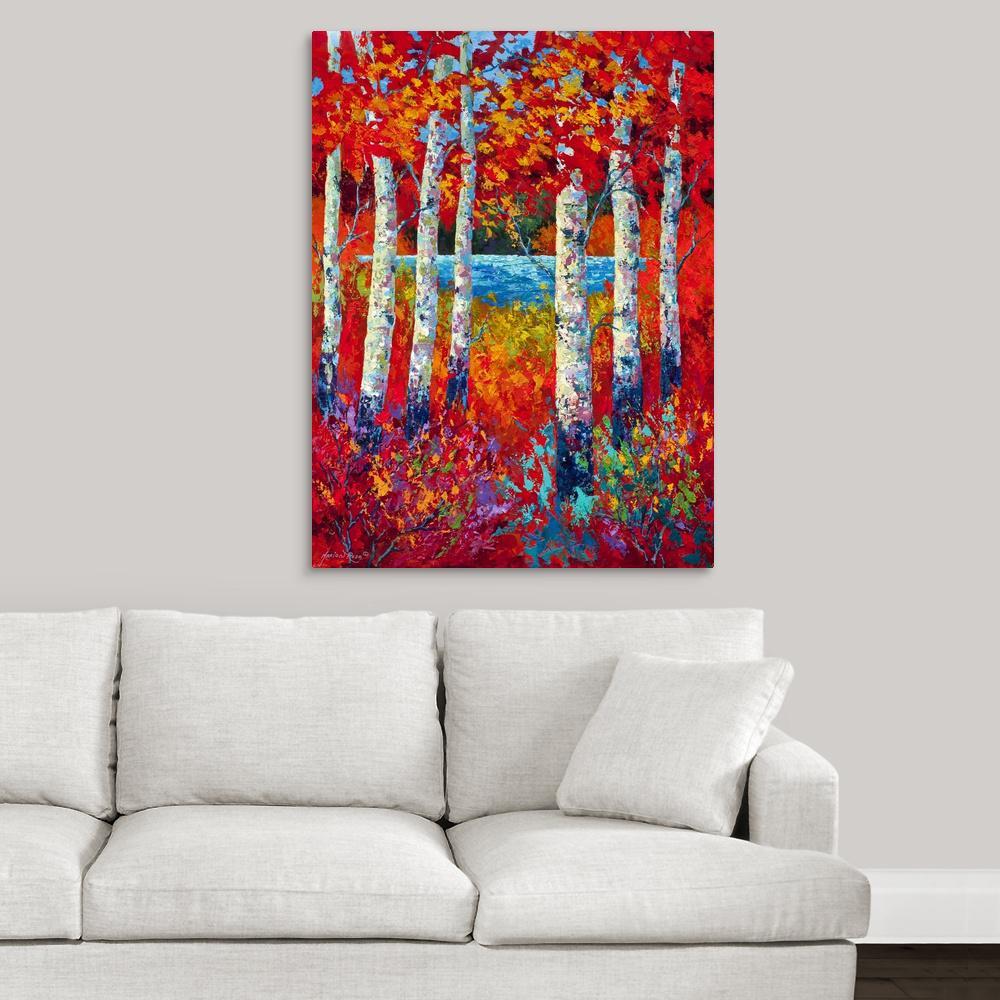 Autumn lyrics by marion rose canvas wall art
