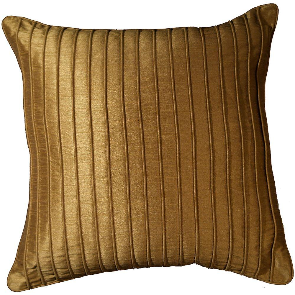 LR Resources Contemporary Marlene Clay 18 in. x 18 in. Square Decorative Accent Pillow (2-Pack)