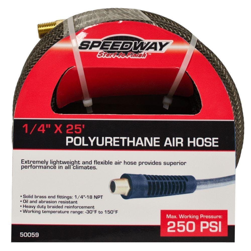 1/4 in. x 25 ft. Lightweight Heavy-Duty Polyurethane Air Hose