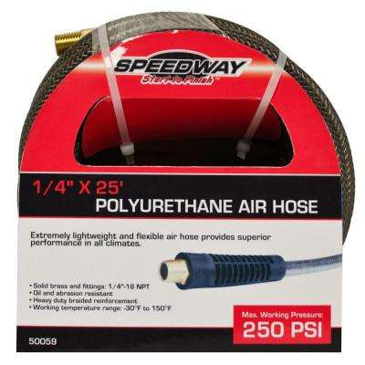 1/4 in. x 25 ft. Lightweight Heavy-Duty Polyurethane Air Hose