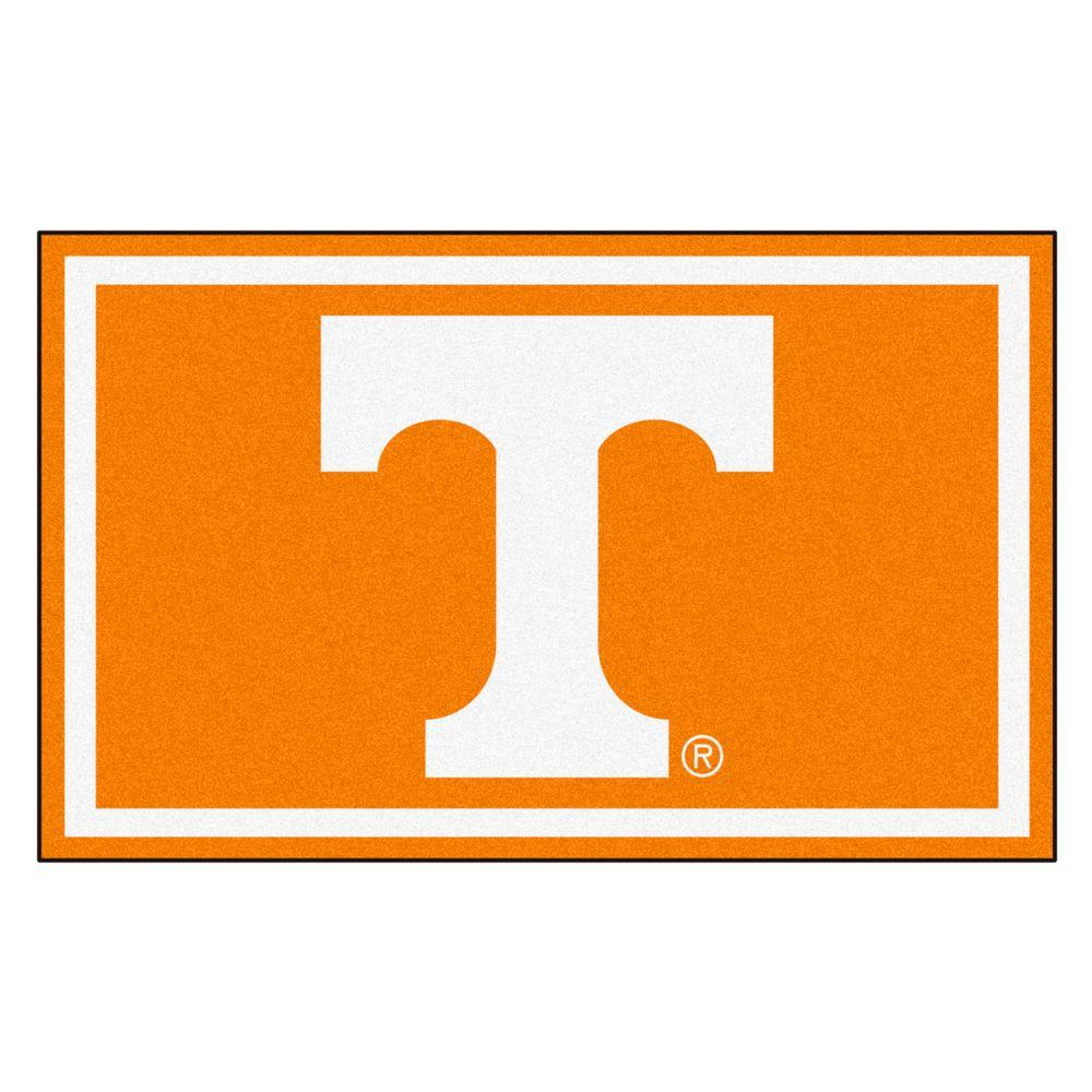 Fanmats University Of Tennessee 4 Ft X 6 Ft Area Rug