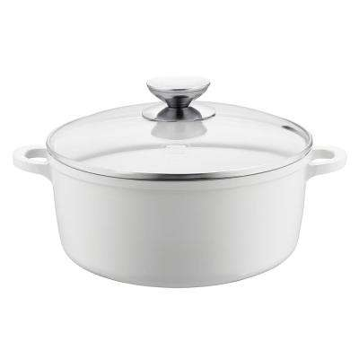 Vario Click Pearl 10 in. /4.25 Qt. Induction Round Dutch Oven with Lid White