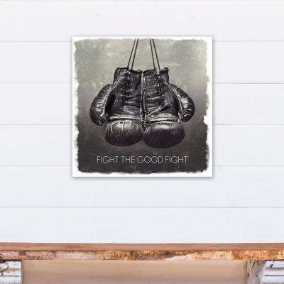 20 in. x 20 in. ''Fight the Good Fight'' Printed Canvas Wall Art