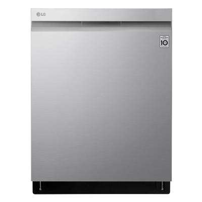 Top Control Dishwasher in PrintProof Stainless Steel with QuadWash and TrueSteam