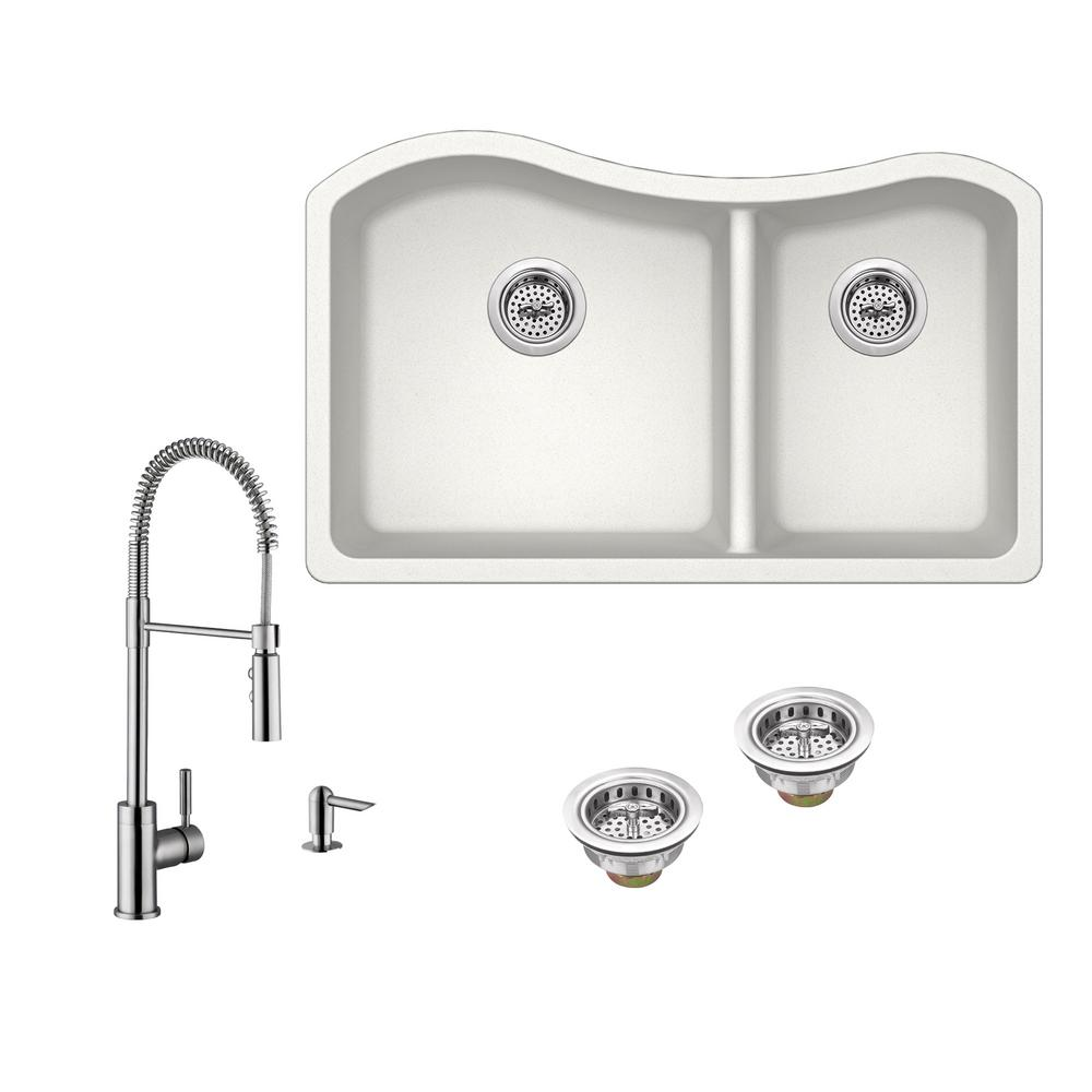Undermount Kitchen Sink With Faucet Holes