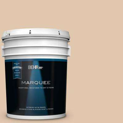 5 gal. #MQ2-08 Irish Cream Satin Enamel Exterior Paint and Primer in One
