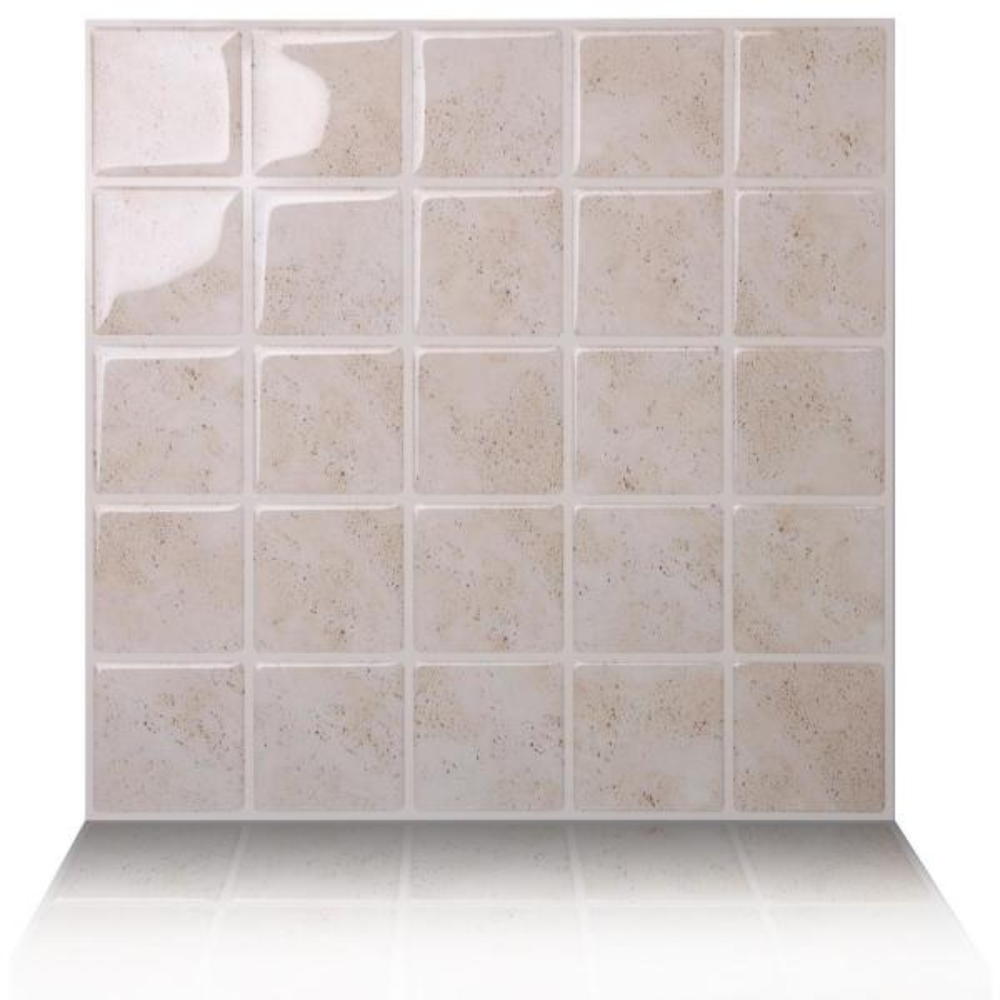 Tic Tac Tiles Marmo Travertine 10 in. W x 10 in.