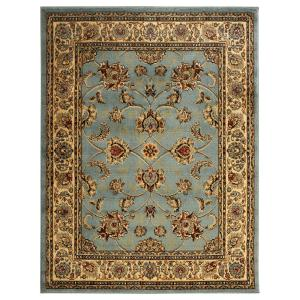 King Collection Mahal Oriental Blue Teal 7 Ft 10 In X 9