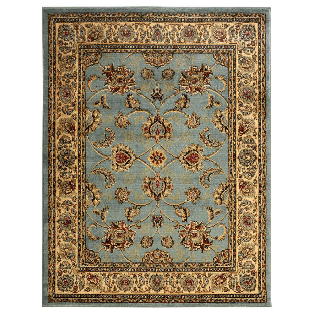 Sweet Home Stores King Collection Mahal Oriental Seafoam 8 Ft X