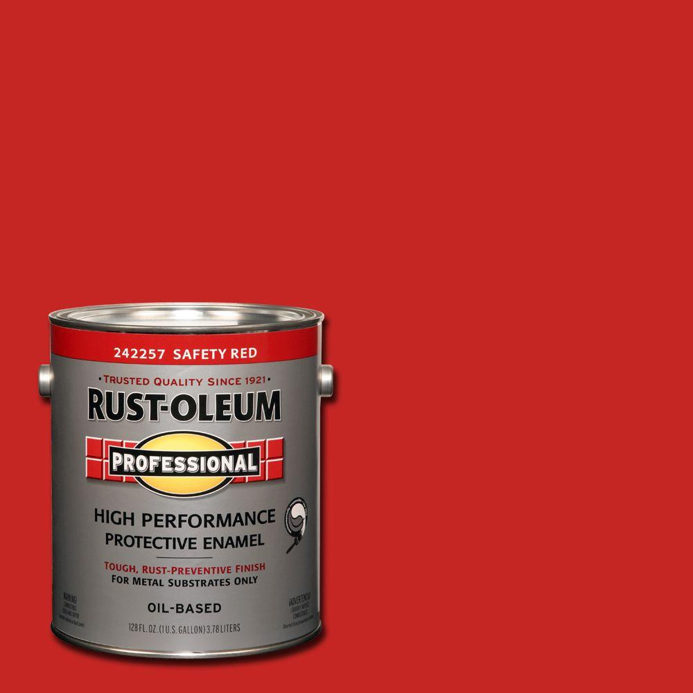 Rust-Oleum Professional 1 gal. High Performance Protective Enamel Gloss Safety Red Oil-Based Interior/Exterior Metal Paint (2-Pack)