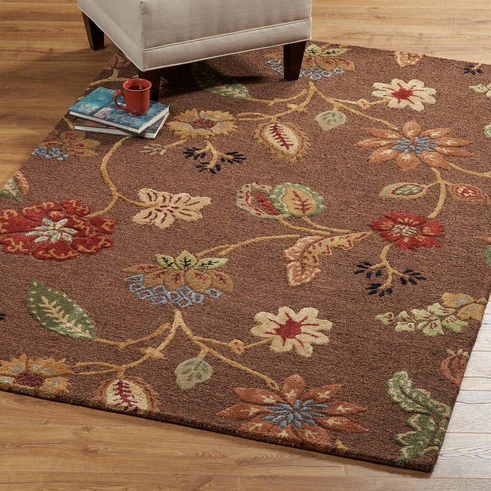Home Decorators Collection Portico Brown 5 ft. 3 in. x 8 ft. 3 in. Area Rug