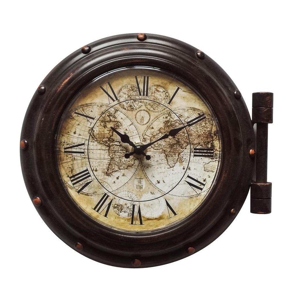 Yosemite Home Decor Old World Cppuccions Brown Analog Wall Clock