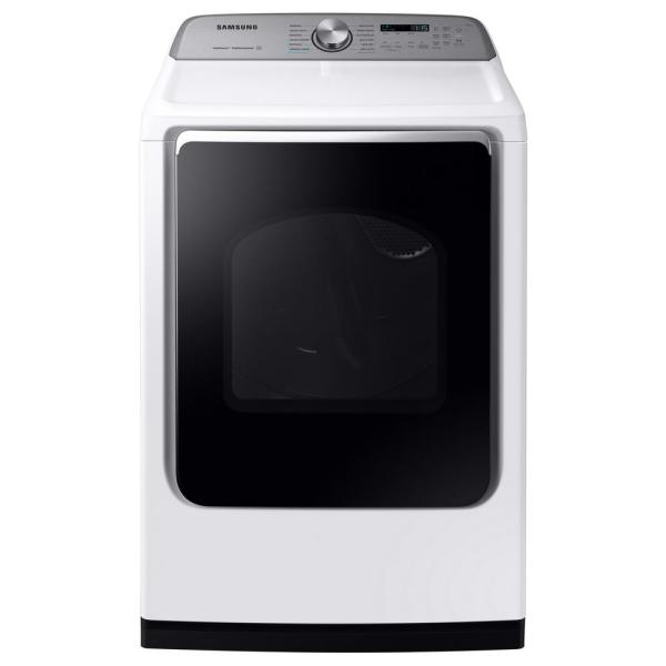 7.4 cu. ft. White Electric Dryer with Steam Sanitize+, ENERGY STAR