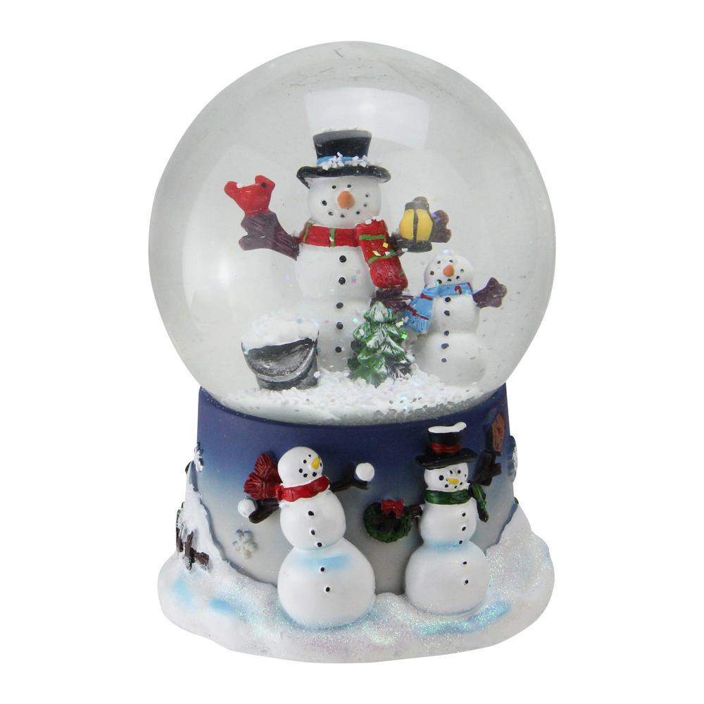 christmas snowman and snow son musical snow globe glitterdome - Christmas Musical Snow Globes