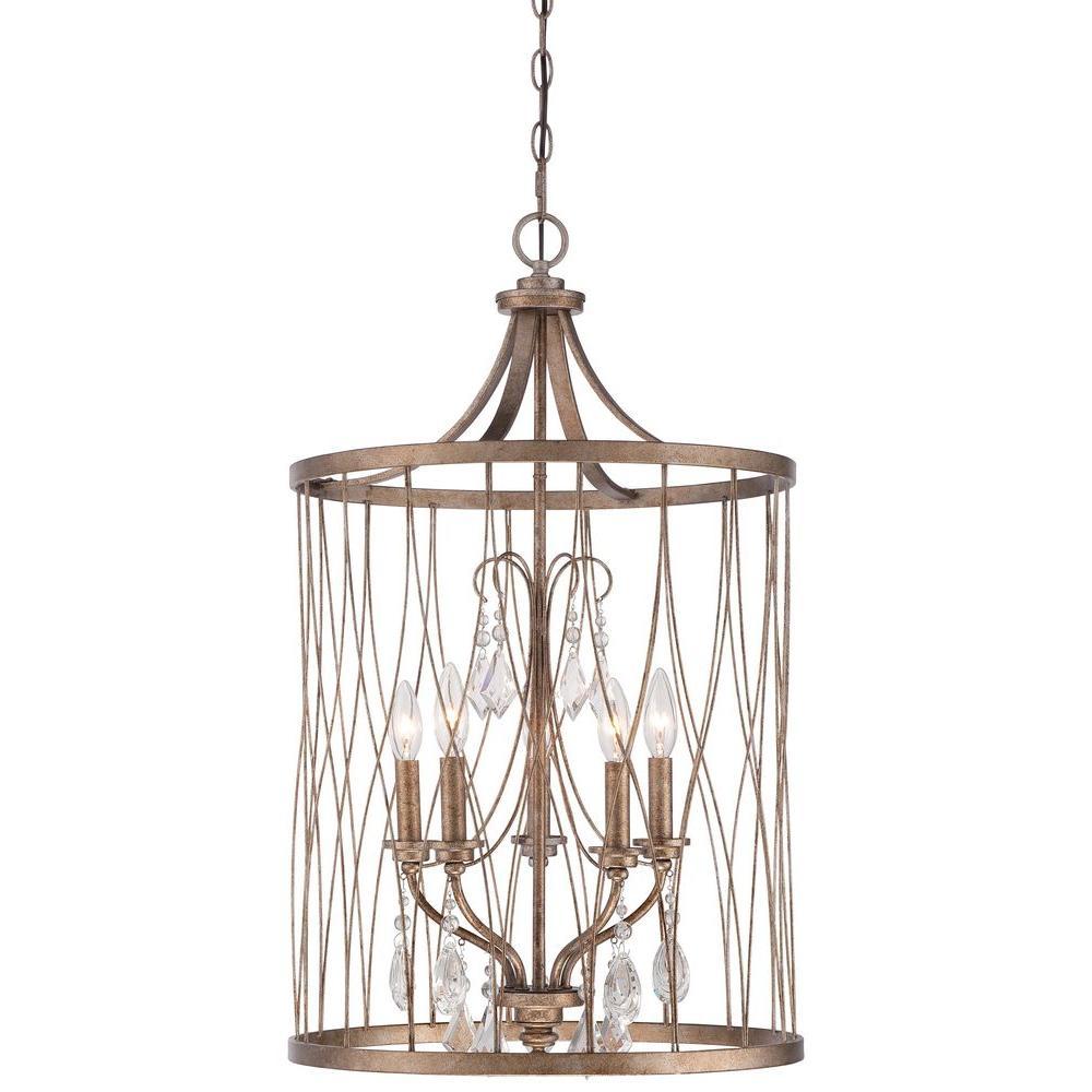 West Liberty 5-Light Olympus Gold Pendant