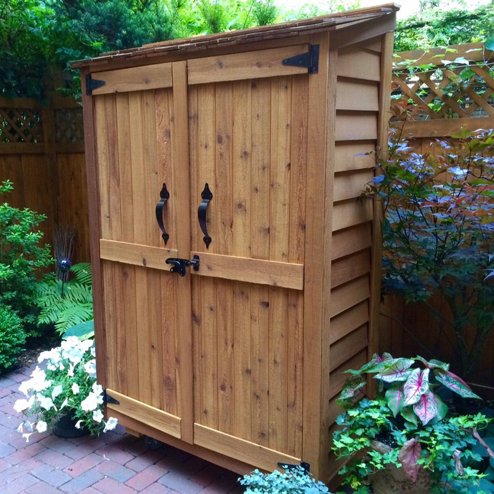 Outdoor Living Cedar Garden Storage Shed
