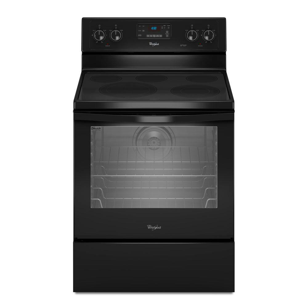 Whirlpool 6.2 cu. ft. Electric Range with Self-Cleaning Convection Oven in Black
