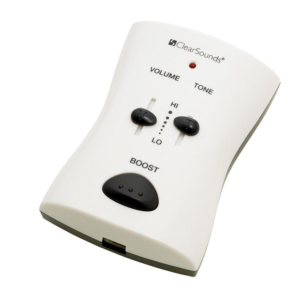 Portable Telephone Amplifier - White