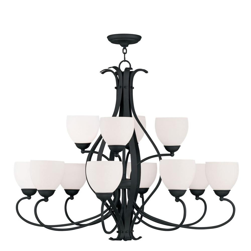 Providence 12-Light Black Incandescent Ceiling Chandelier