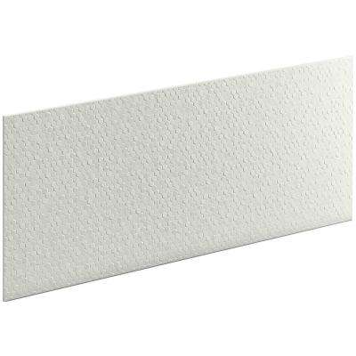 Choreograph 0.3125 in. x 60 in. x 28 in. 1-Piece Shower Wall Panel in Dune with Hex Texture