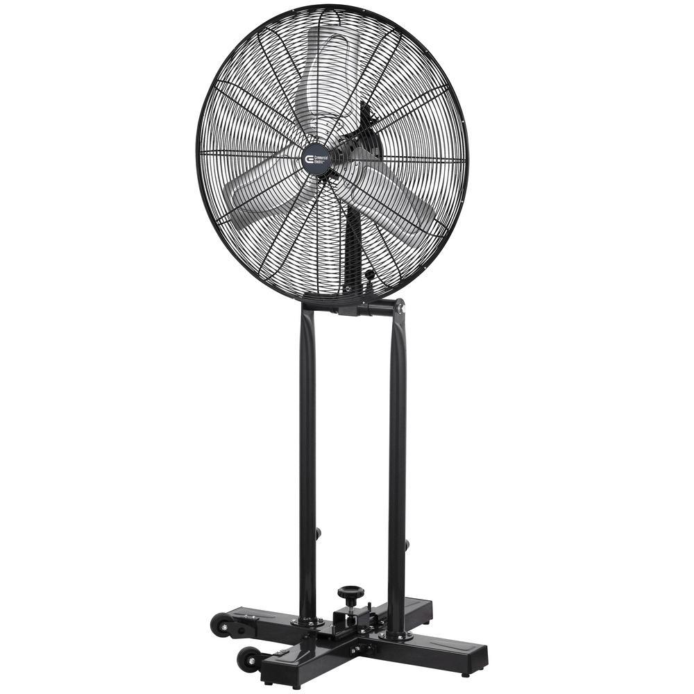 Home Depot Fans: Commercial Electric 24 In. 2-in-1 Pedestal/Floor Fan-SFSI