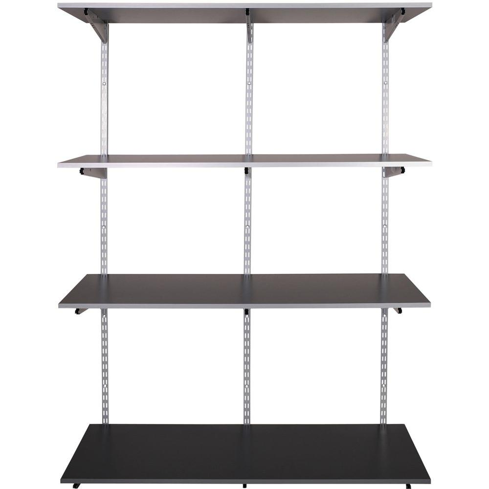 Rubbermaid FastTrack Garage 4 Shelf 48 In X 16 Laminate Shelving Kit
