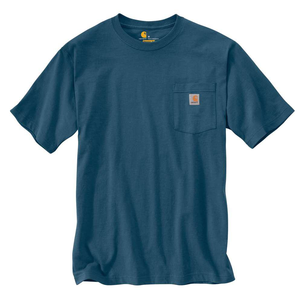 petite Carhartt Men's Tall X Large Stream Blue Cotton Short-Sleeve T-Shirt was $19.99 now $12.74 (36.0% off)