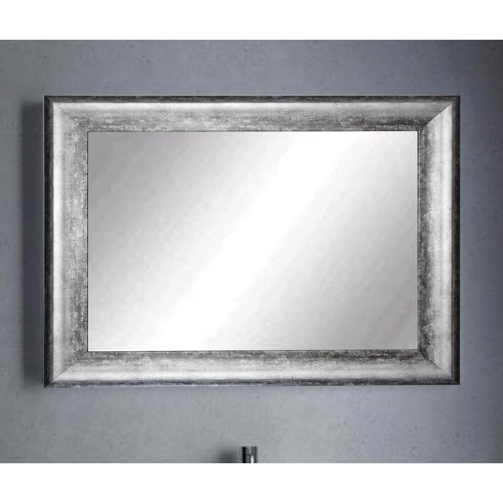 Midnight Silver Decorative Framed Wall Mirror-BM039L3 - The Home Depot