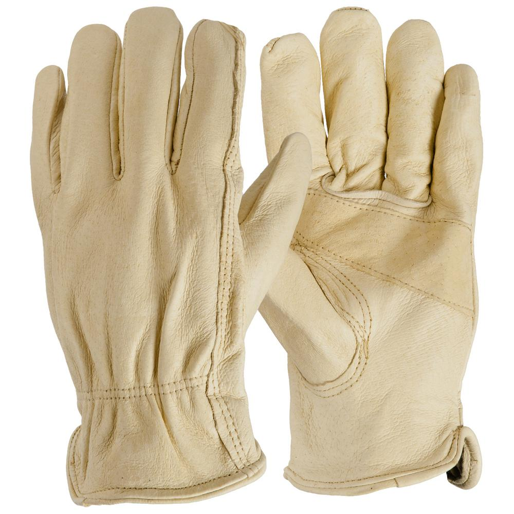 Firm Grip Large Full Grain Leather Gloves 6 Pair 10090
