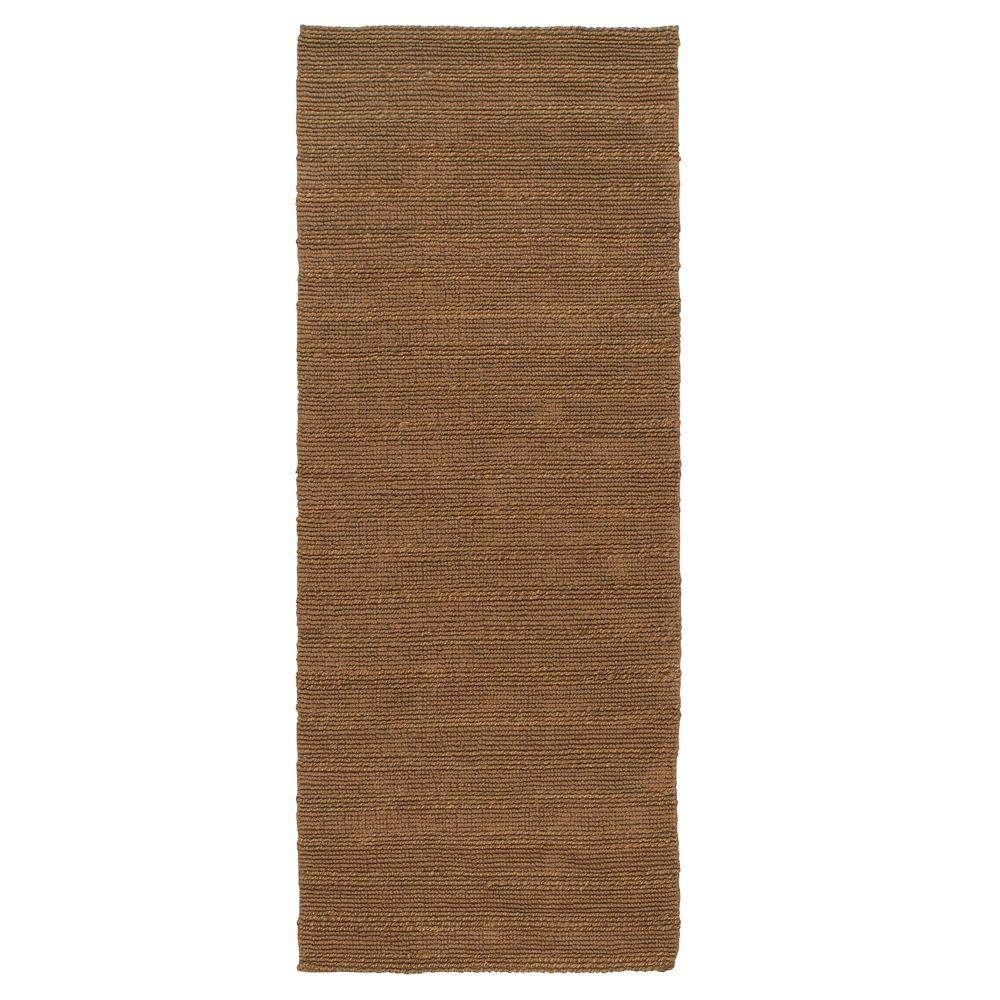Home decorators collection banded jute dark natural 3 ft for Home decorators rug runners